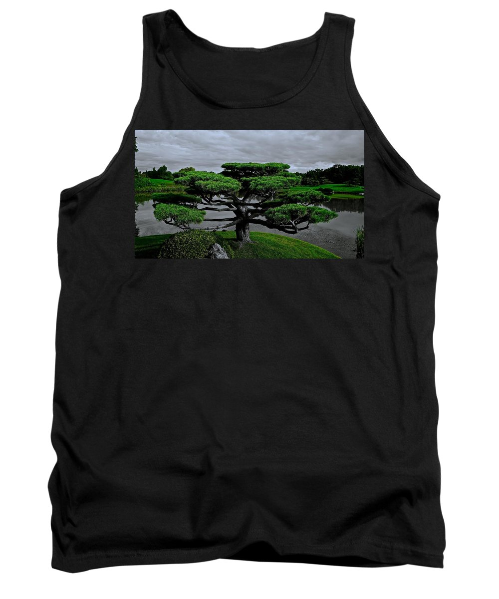 Japanese Garden Tank Top featuring the photograph Serenity And Balance by Tim G Ross