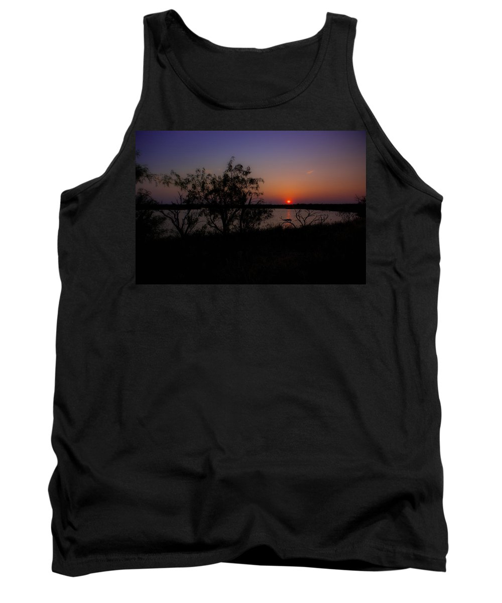 Sunset Tank Top featuring the photograph Serenity by Kelli Brown