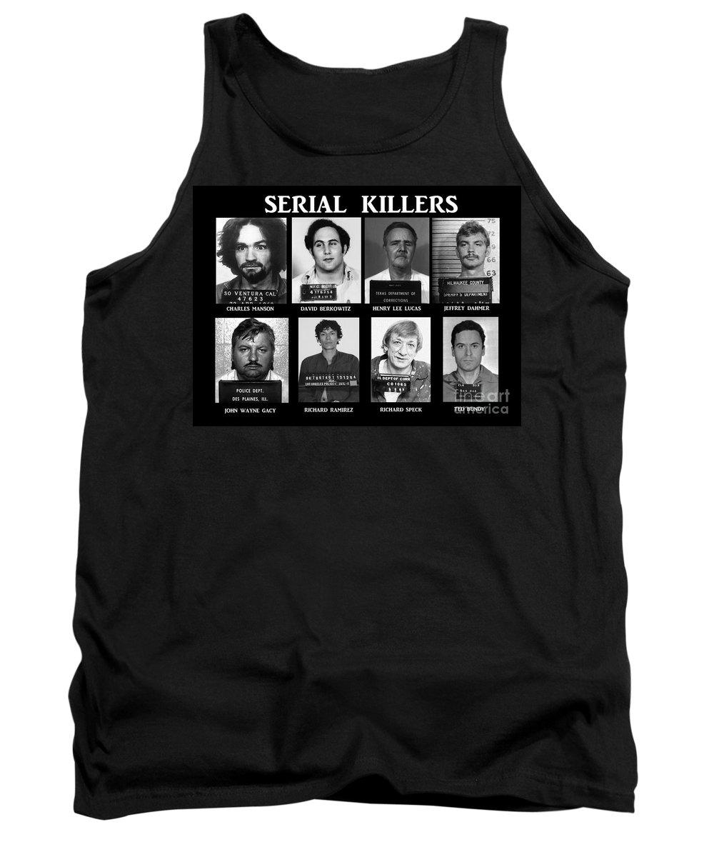 Paul Ward Tank Top featuring the photograph Serial Killers - Public Enemies by Paul Ward