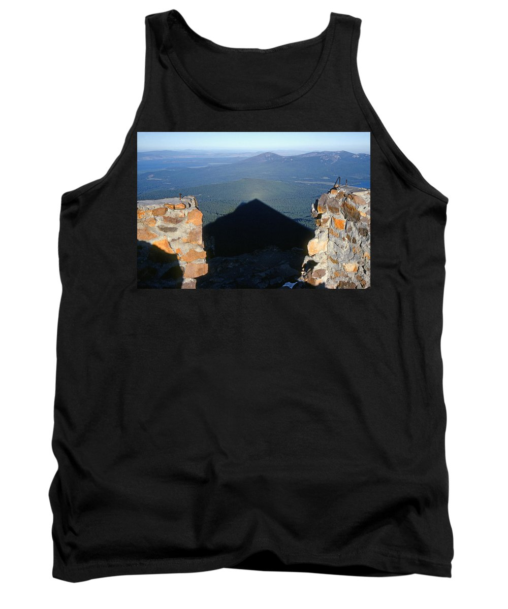 Shadow Tank Top featuring the photograph M-05715-shadow Of Mt. Mcloughlin by Ed Cooper Photography