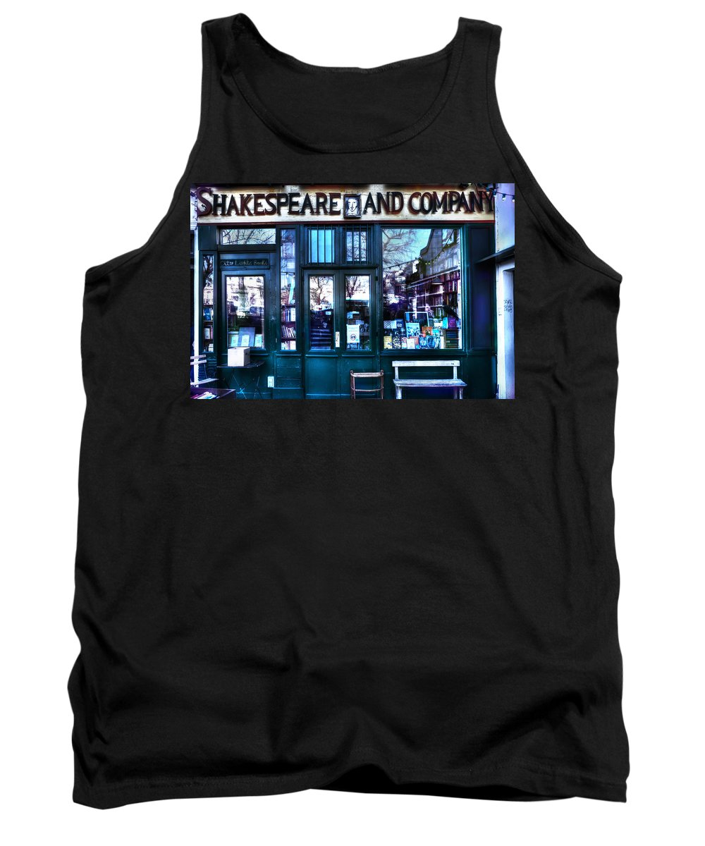 Evie Tank Top featuring the photograph Shakespeare And Company Paris France by Evie Carrier