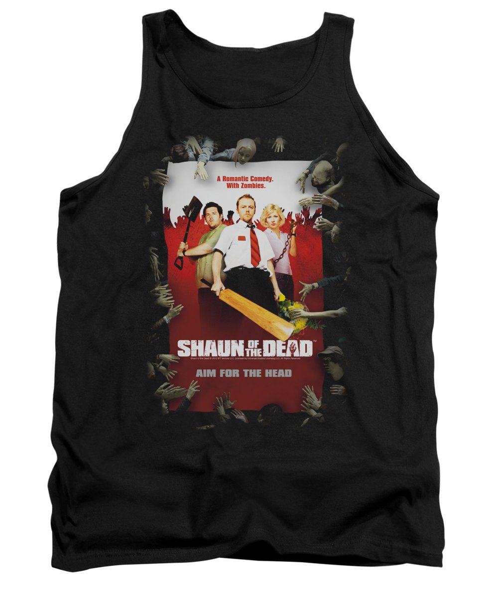 Shaun Of The Dead Tank Top featuring the digital art Shaun Of The Dead - Poster by Brand A