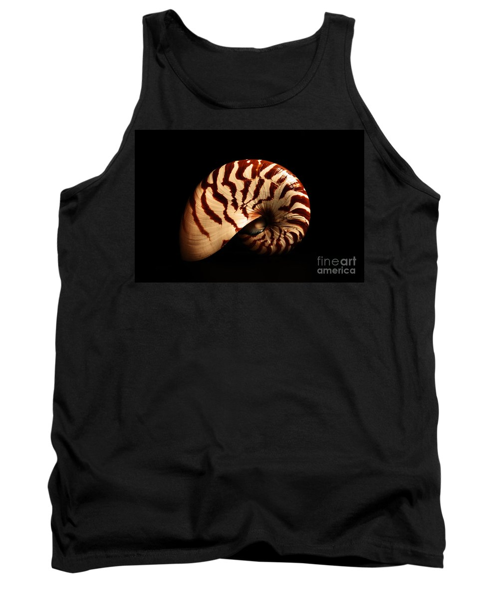 Shell Tank Top featuring the photograph Shell Pose by Davids Digits