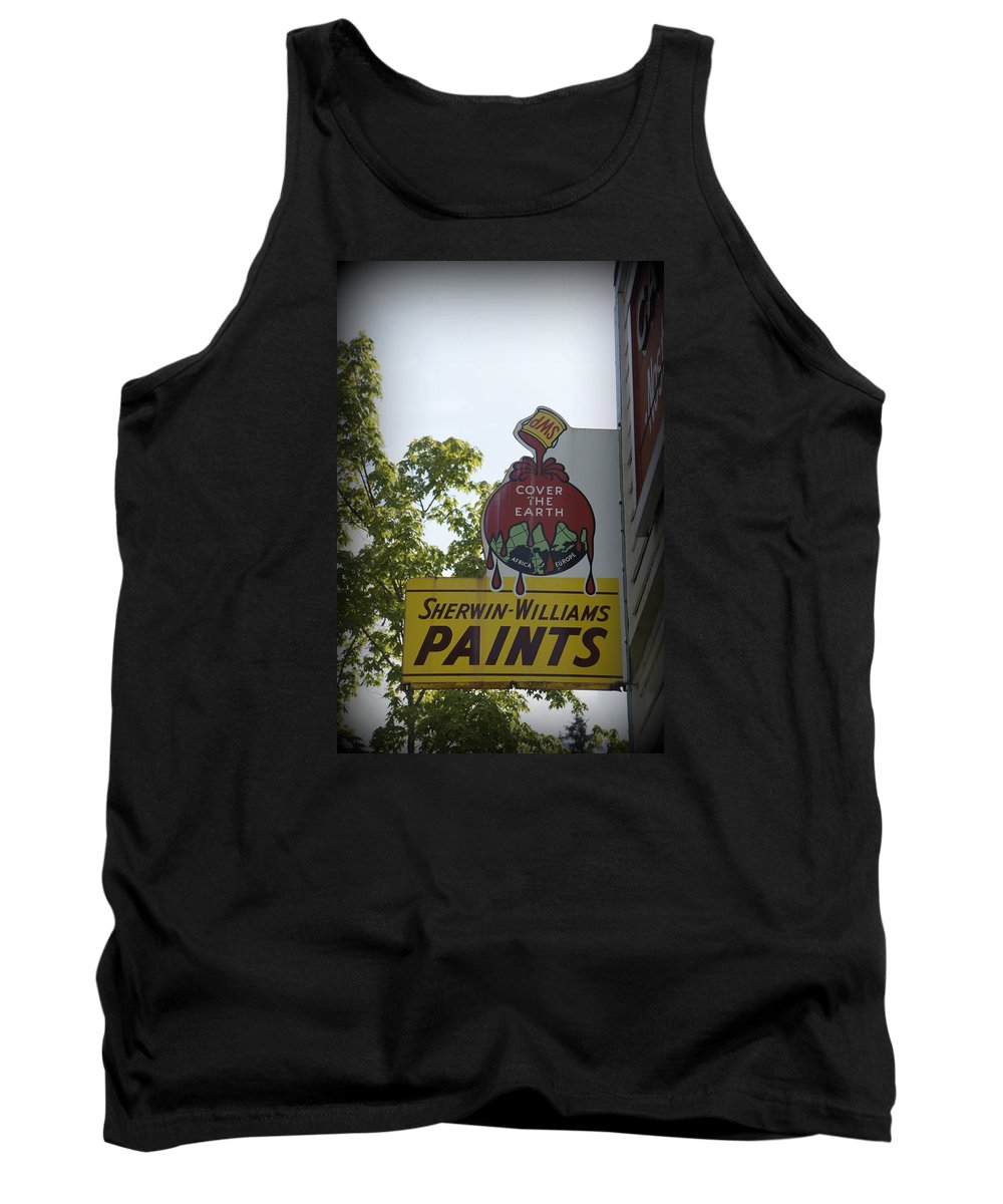 Sherwin Willians Tank Top featuring the photograph Sherwin Williams by Laurie Perry