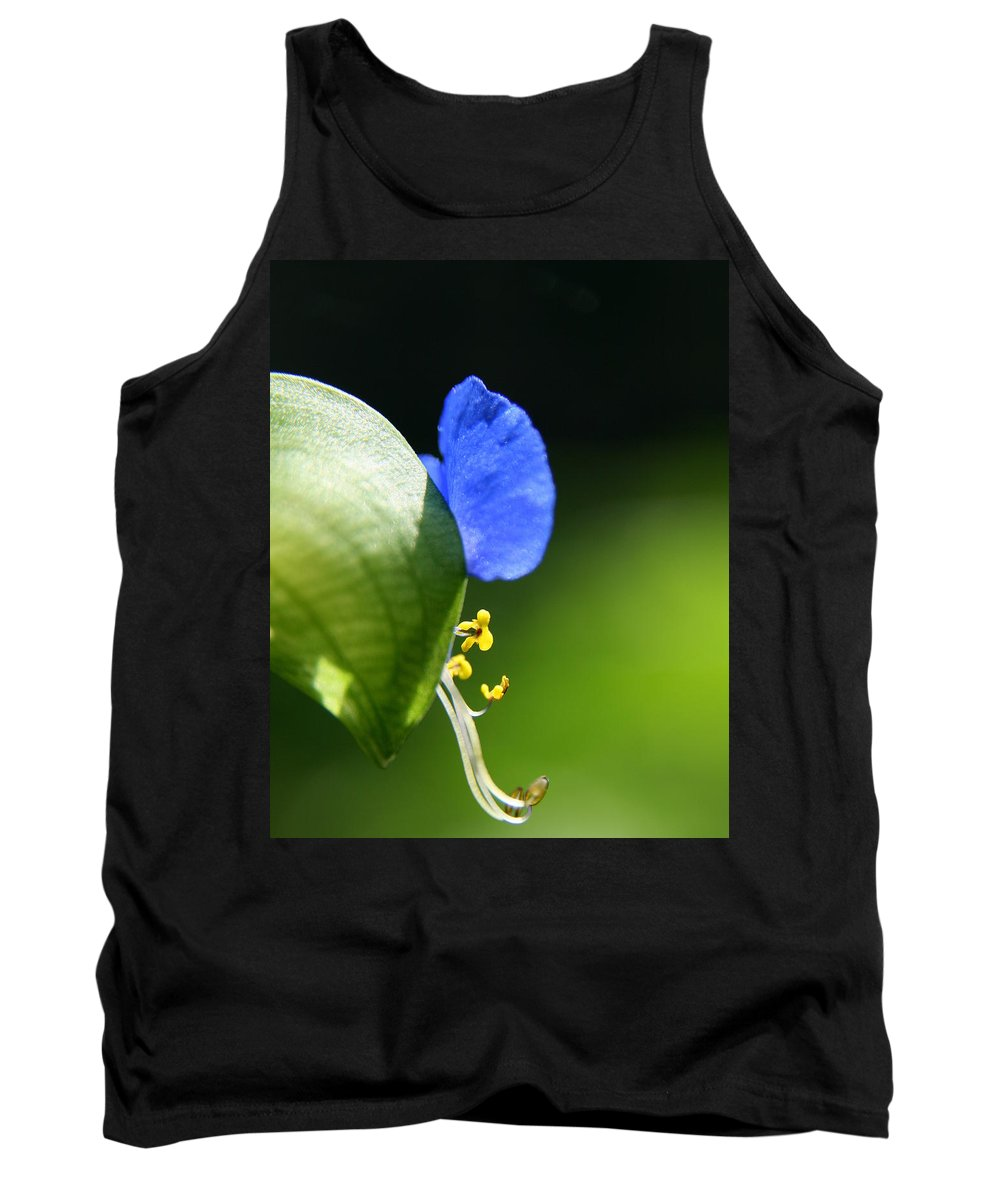 Commelina Communis Asiatic Dayflower Tank Top featuring the photograph Shooting Stars by Neal Eslinger