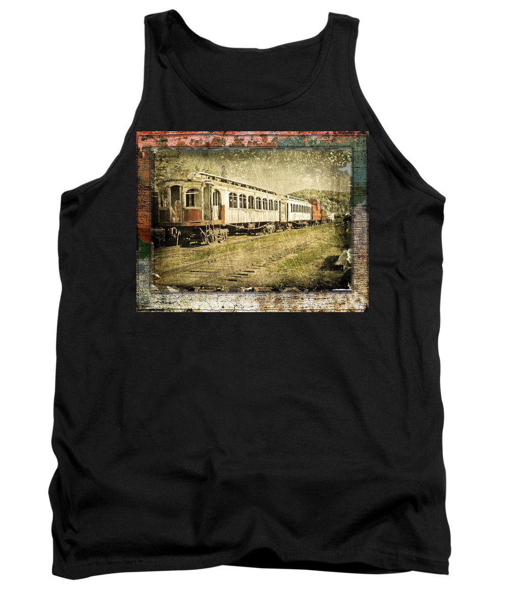Trains Tank Top featuring the photograph Sidetracked by John Anderson
