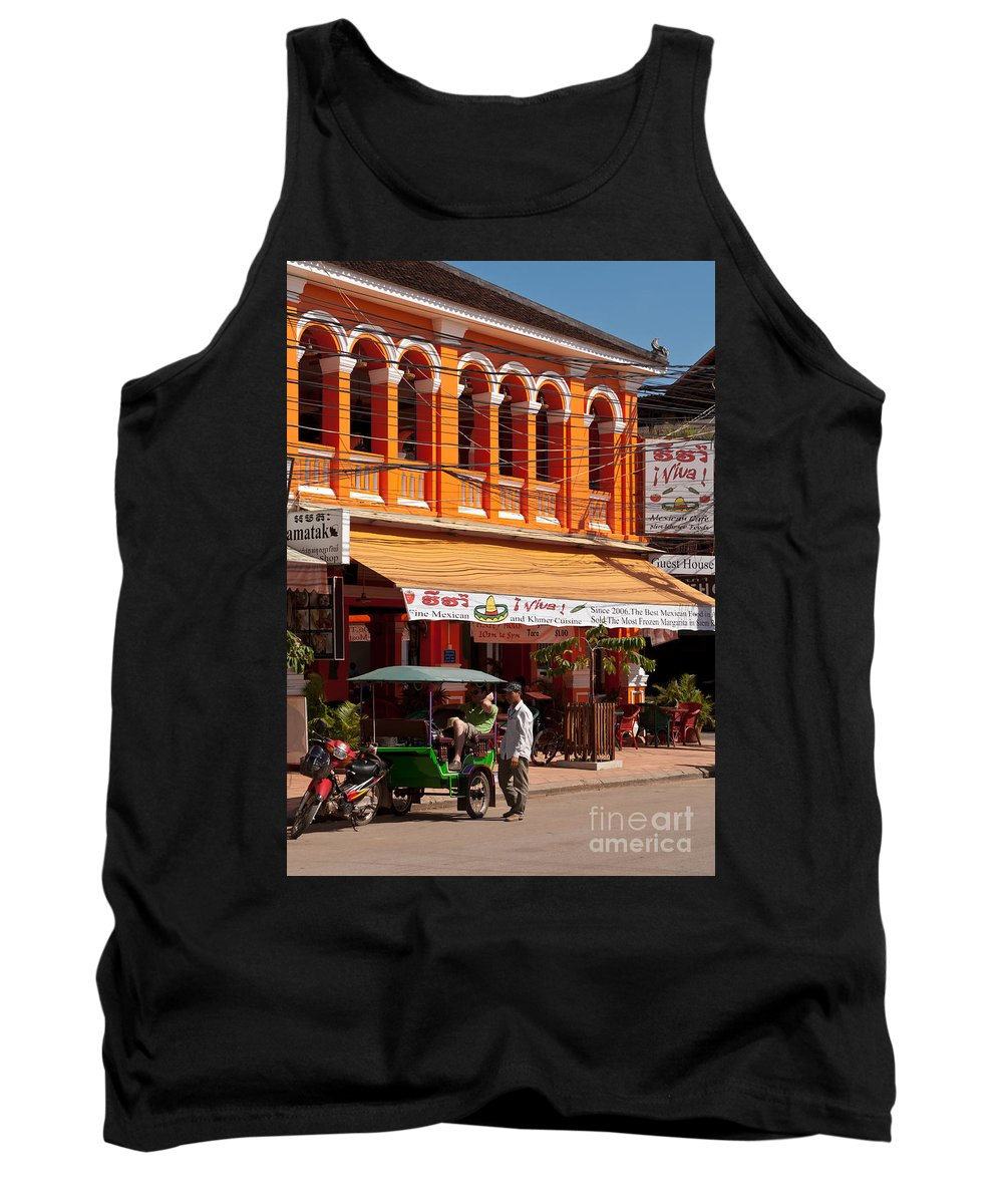 Cambodia Tank Top featuring the photograph Siem Reap 01 by Rick Piper Photography