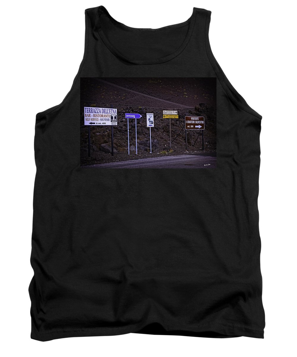 Sicily Tank Top featuring the photograph Signs Of A Crater - Sicily by Madeline Ellis