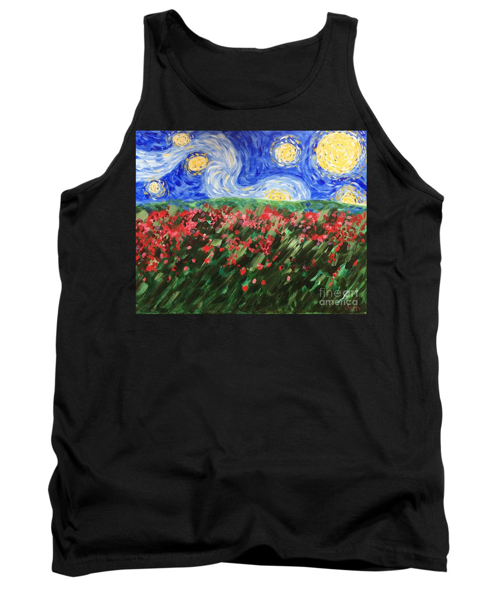 Van Gogh Tank Top featuring the painting Silent Field by Joshua Chase