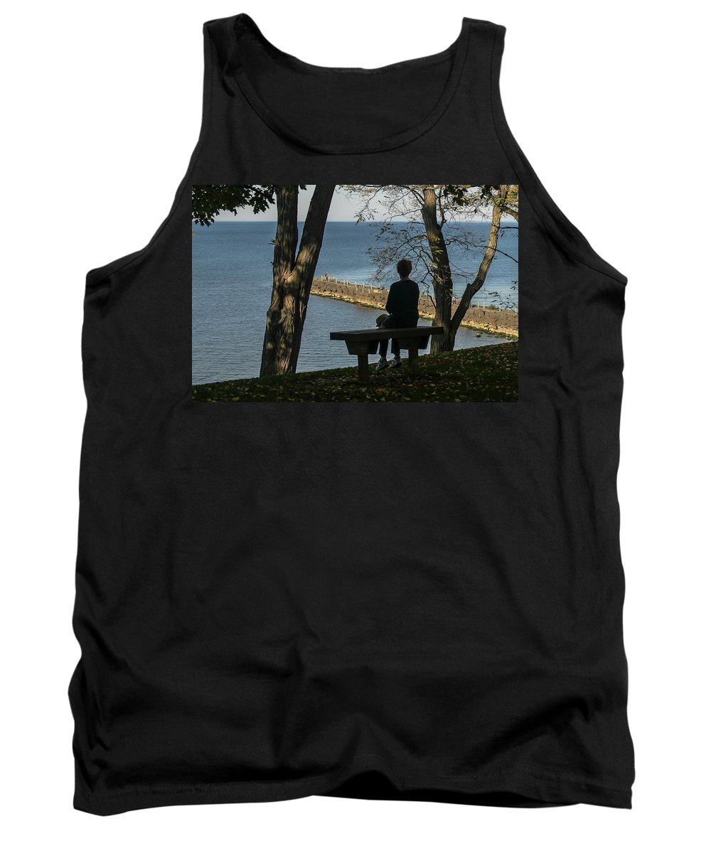 Silhouette Tank Top featuring the photograph Silhouette On The Hill by Lou Cardinale