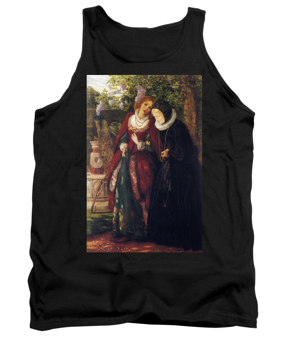 Arthur Hughes Tank Top featuring the digital art Silver And Gold by Arthur Hughes