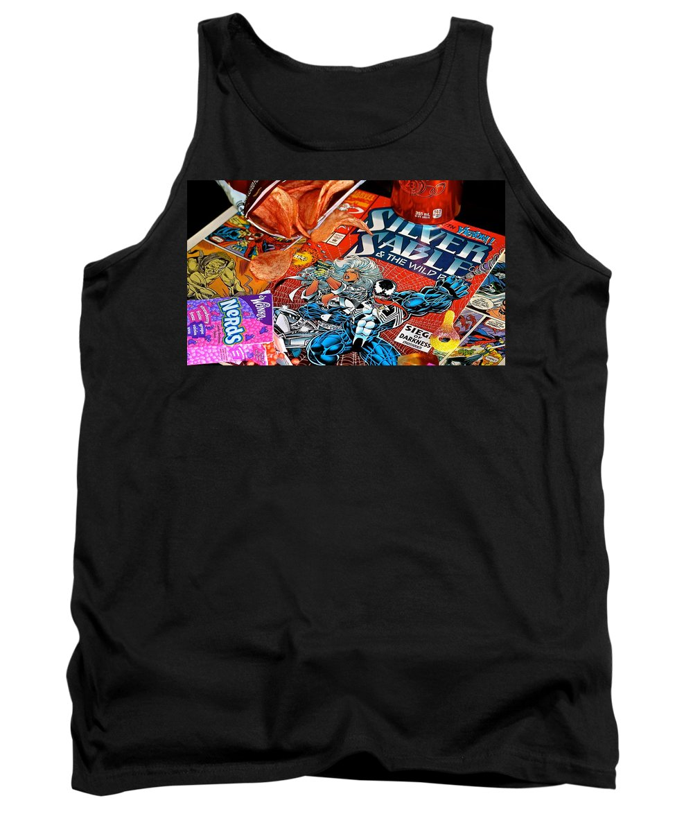 Comics Tank Top featuring the photograph Silver Venom by Stephanie Bland