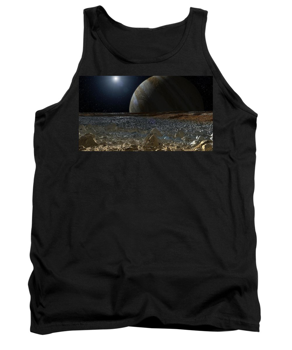 Simulated View From Europa's Surface Tank Top featuring the photograph Simulated View From Europas Surface by Jpl