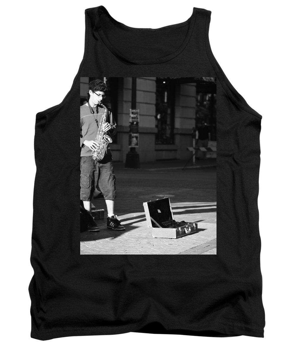 Vancouver Tank Top featuring the photograph Singing Streets by The Artist Project
