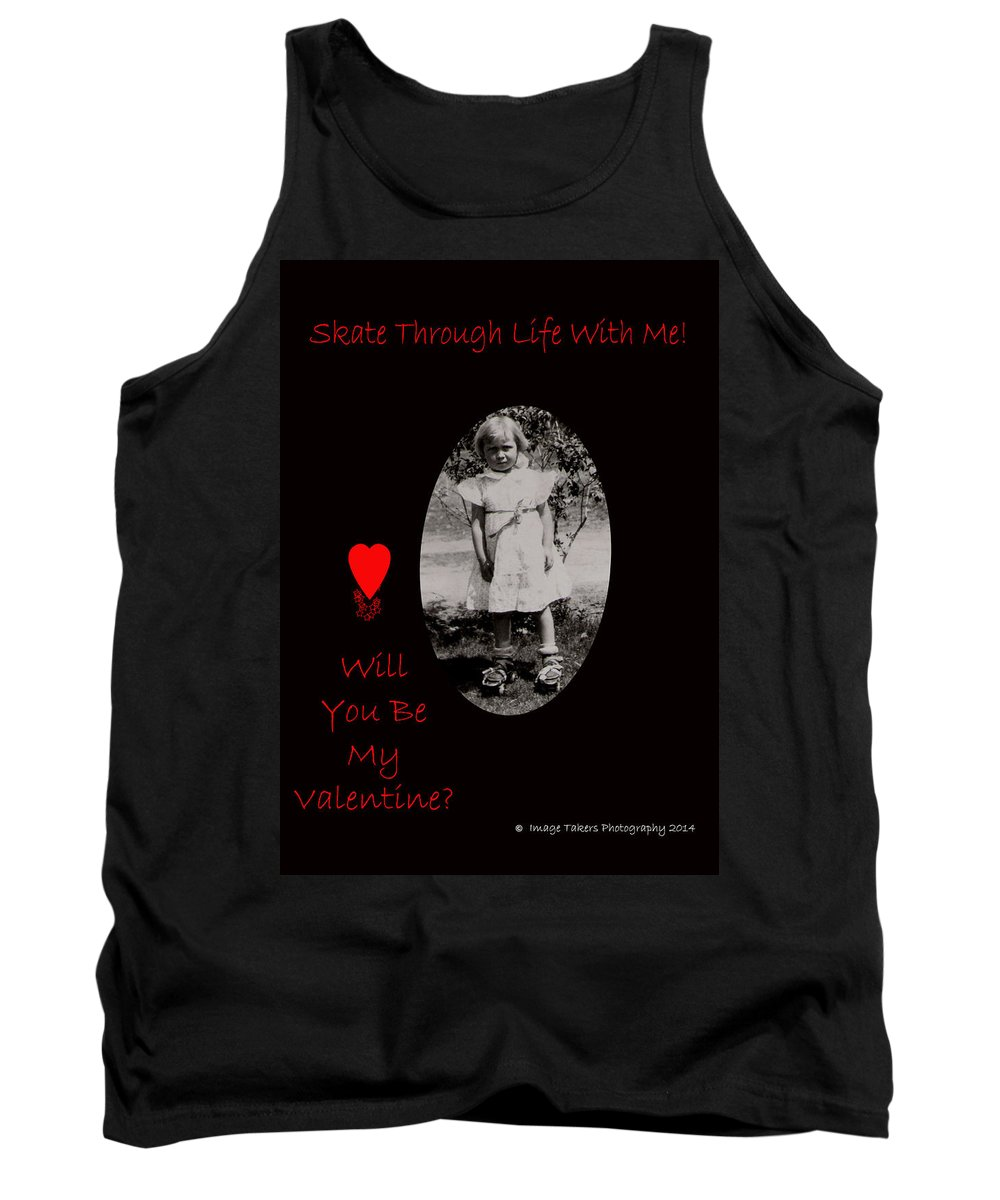 Valentine's Day Tank Top featuring the photograph Skate Through Life by Image Takers Photography LLC - Carol Haddon