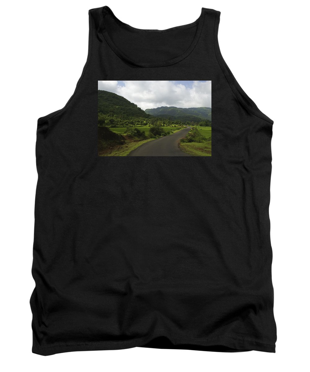 Pleasure Tank Top featuring the photograph Skc 4002 A Pleasure Drive by Sunil Kapadia