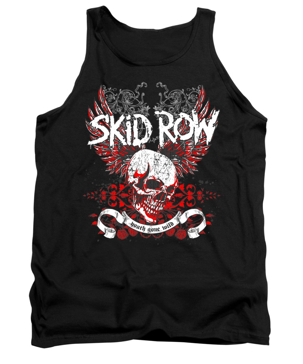 Tank Top featuring the digital art Skid Row - Winged Skull by Brand A