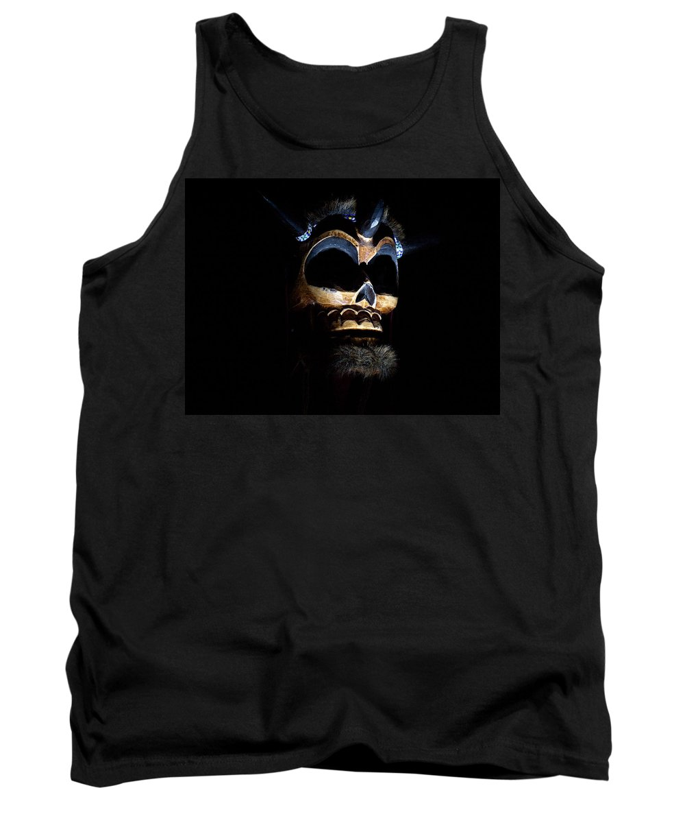 Black Tank Top featuring the photograph Skull by Tera Michaels