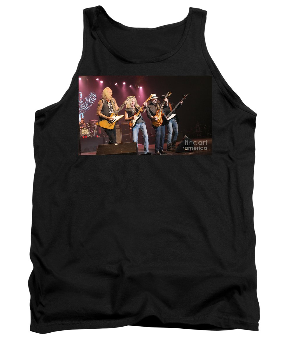 Lynyrd Skynyrd Tank Top featuring the photograph Skynyrd-group-7642 by Gary Gingrich Galleries
