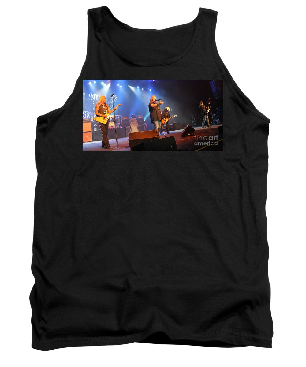 Lynyrd Skynyrd Tank Top featuring the photograph Skynyrd-group-7745 by Gary Gingrich Galleries