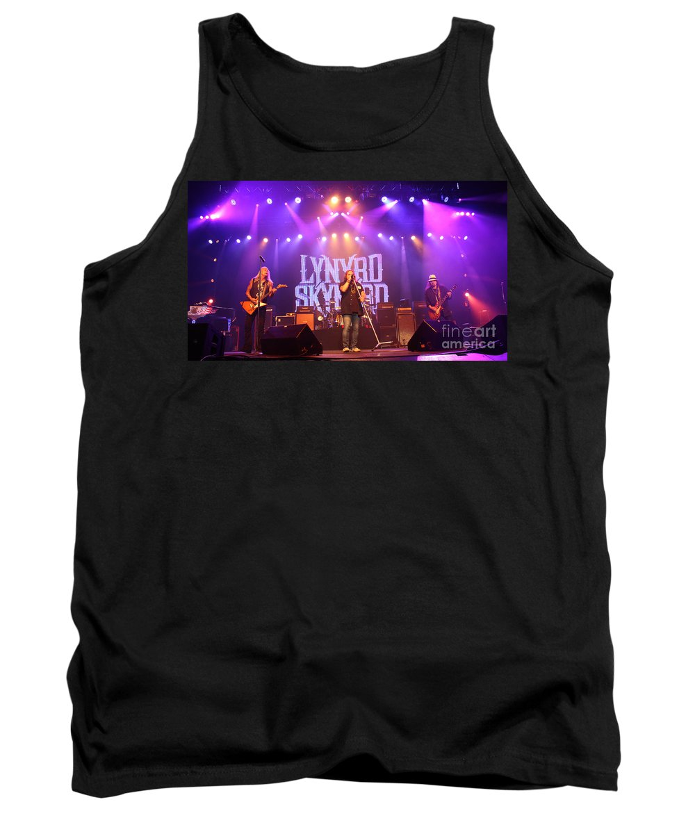 Lynyrd Skynyrd Tank Top featuring the photograph Skynyrd-group-7820 by Gary Gingrich Galleries