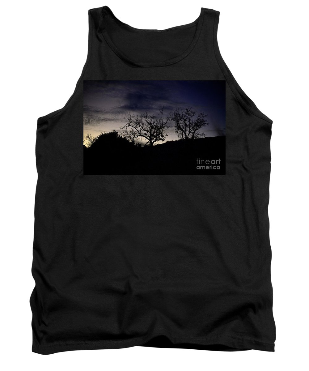 Sleepy Tank Top featuring the photograph Sleepy Silhouette by Bridgette Gomes