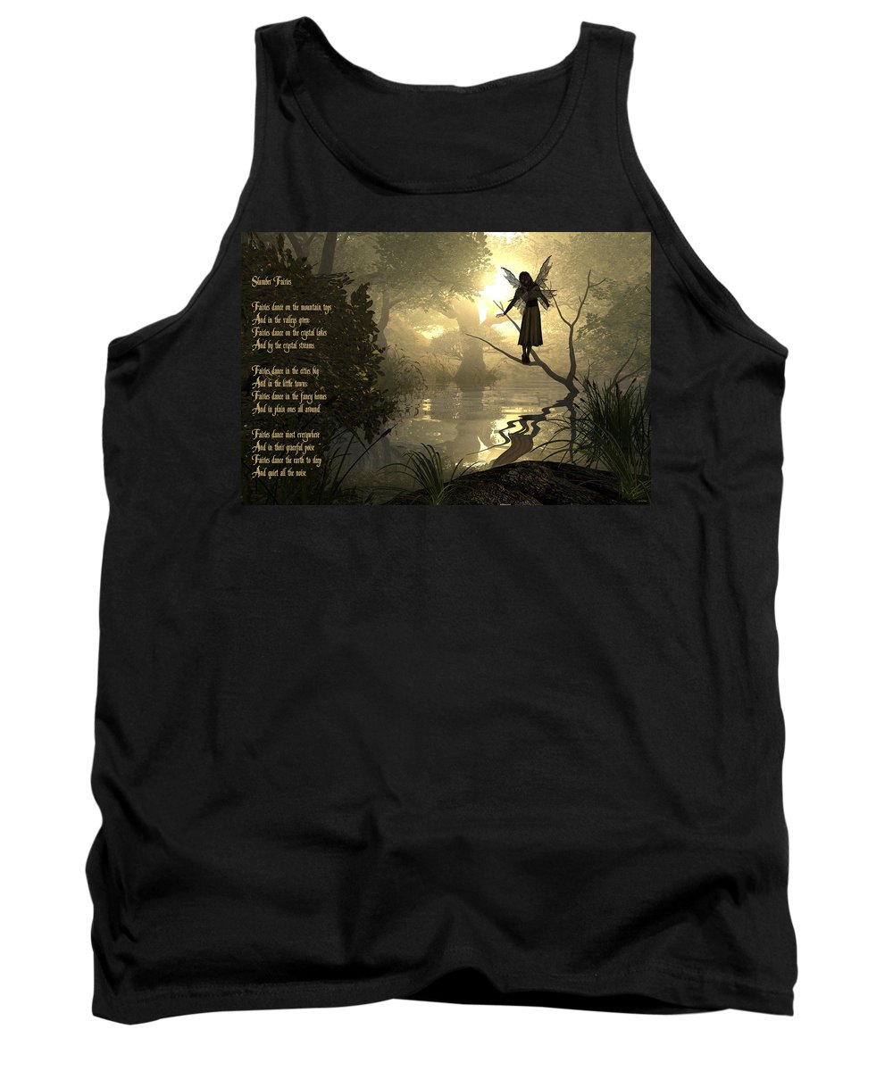 Fairy Poem Tank Top featuring the photograph Slumber Fairies by Randi Kuhne