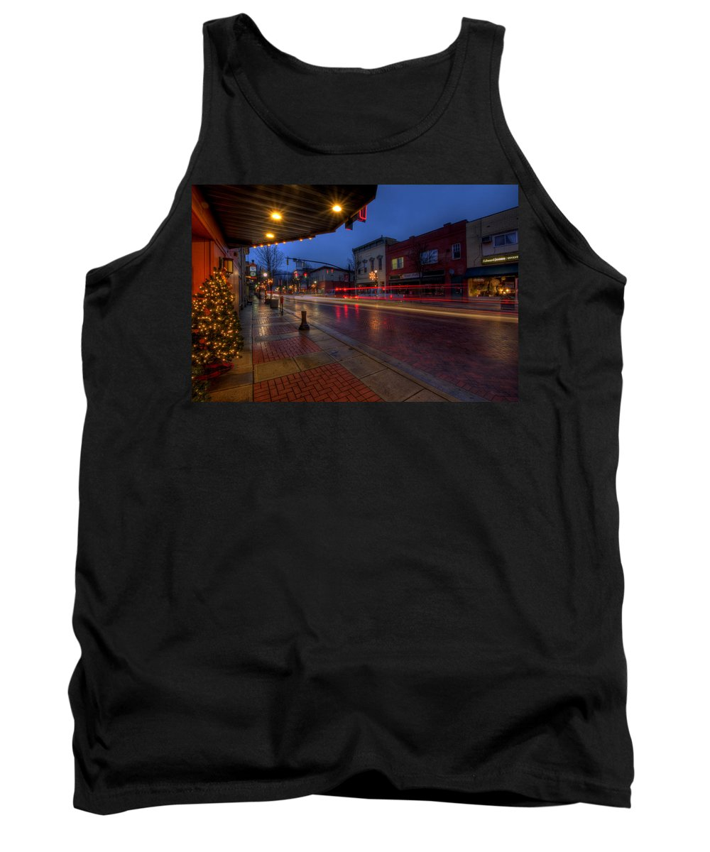 Christmas Tank Top featuring the photograph Small Town Ohio Christmas by David Dufresne