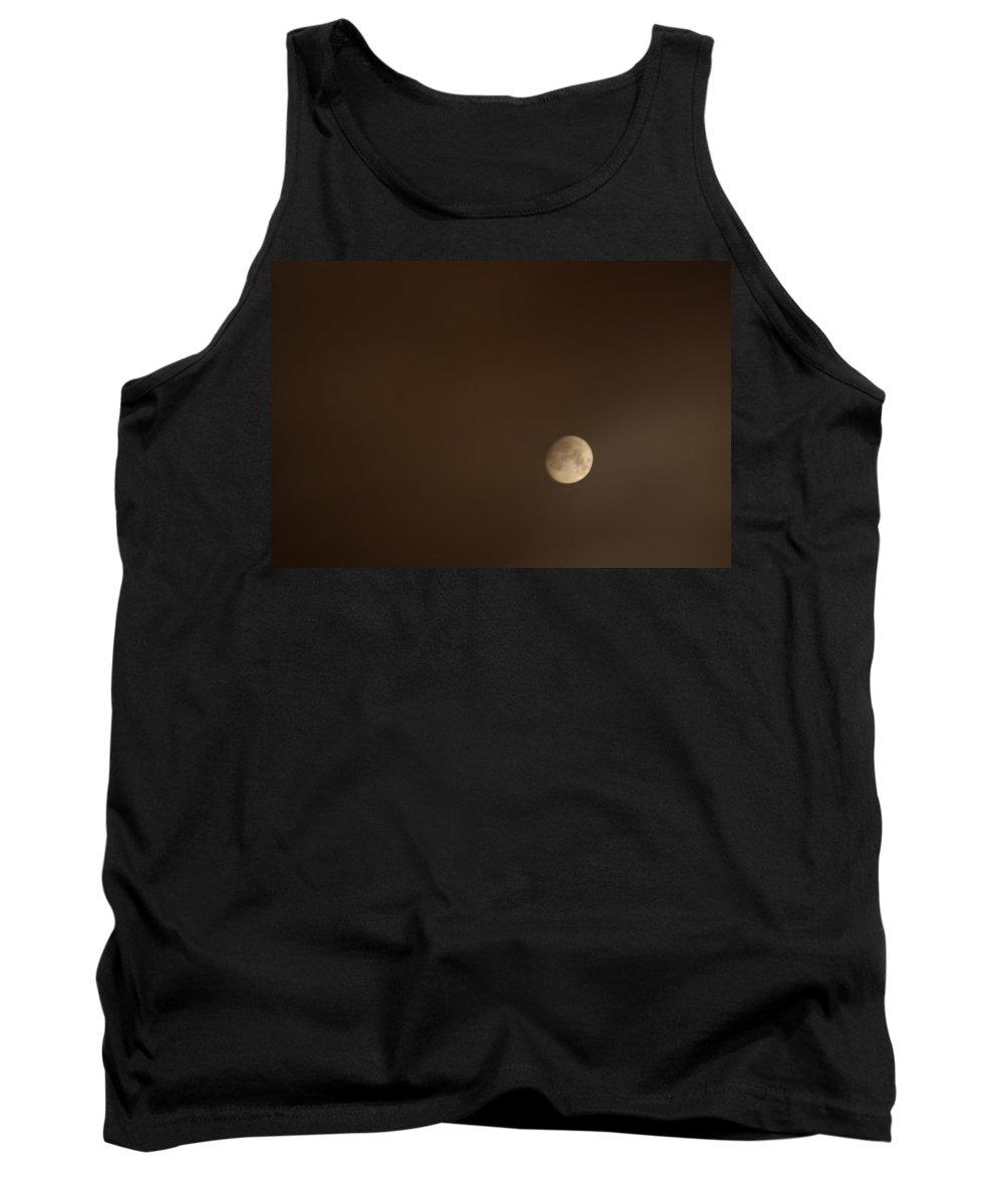 Moon Tank Top featuring the photograph Smoke Lit Moon by Jason Huffman