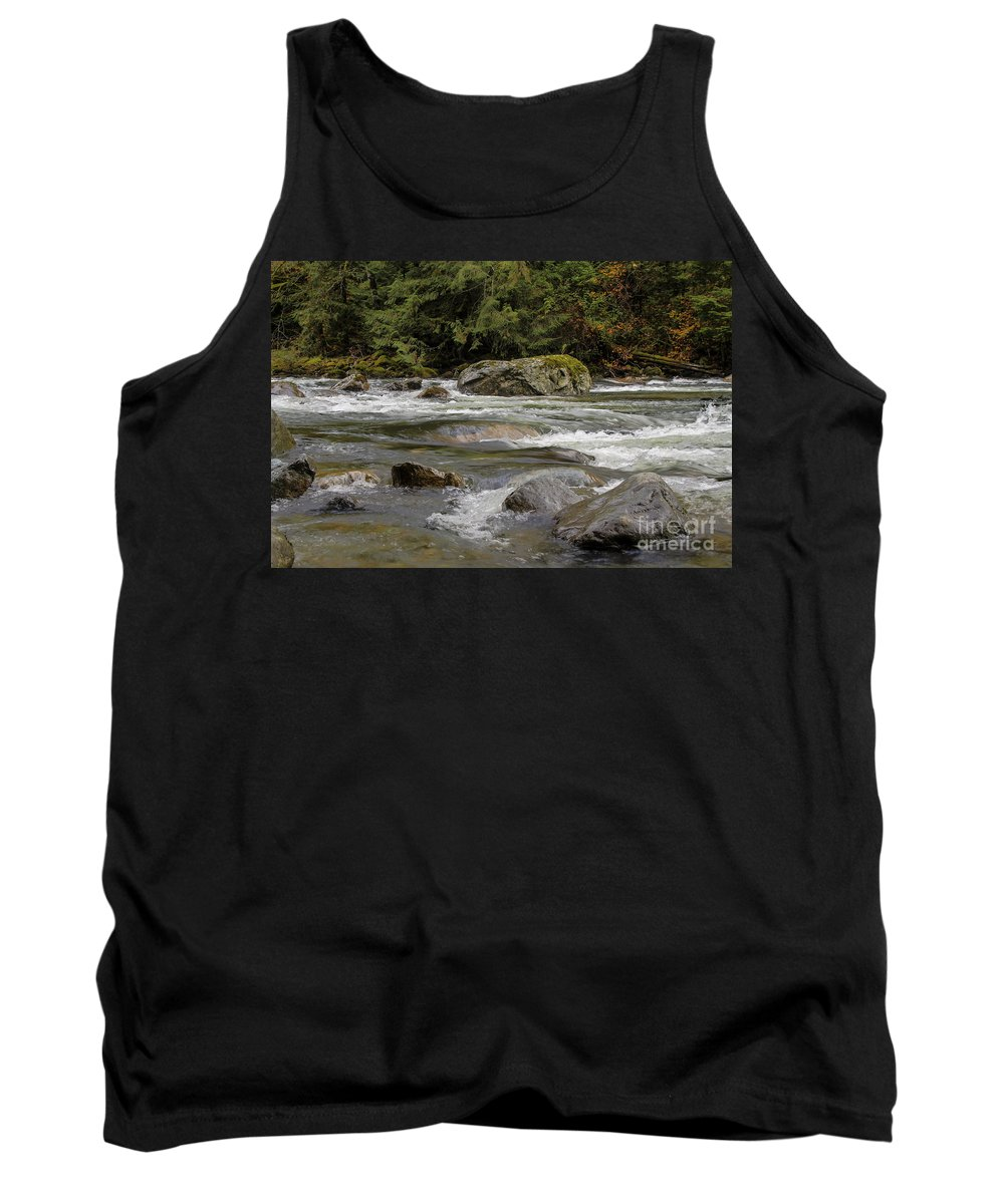 Landscape Tank Top featuring the photograph Snoqualmie Rapids Washington by Darleen Stry