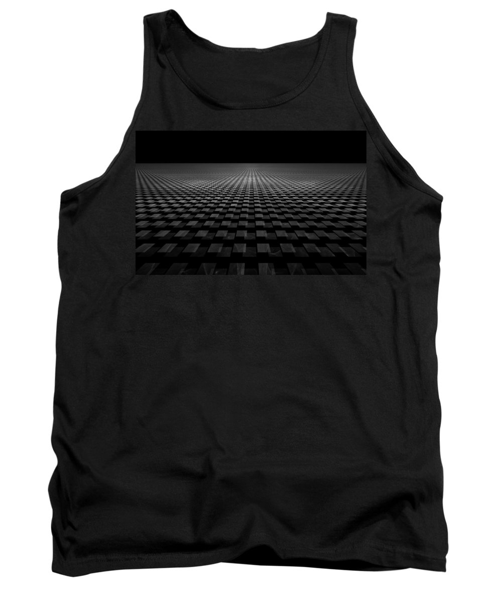 Fractal Tank Top featuring the digital art So Many Steps So Little Time by GJ Blackman