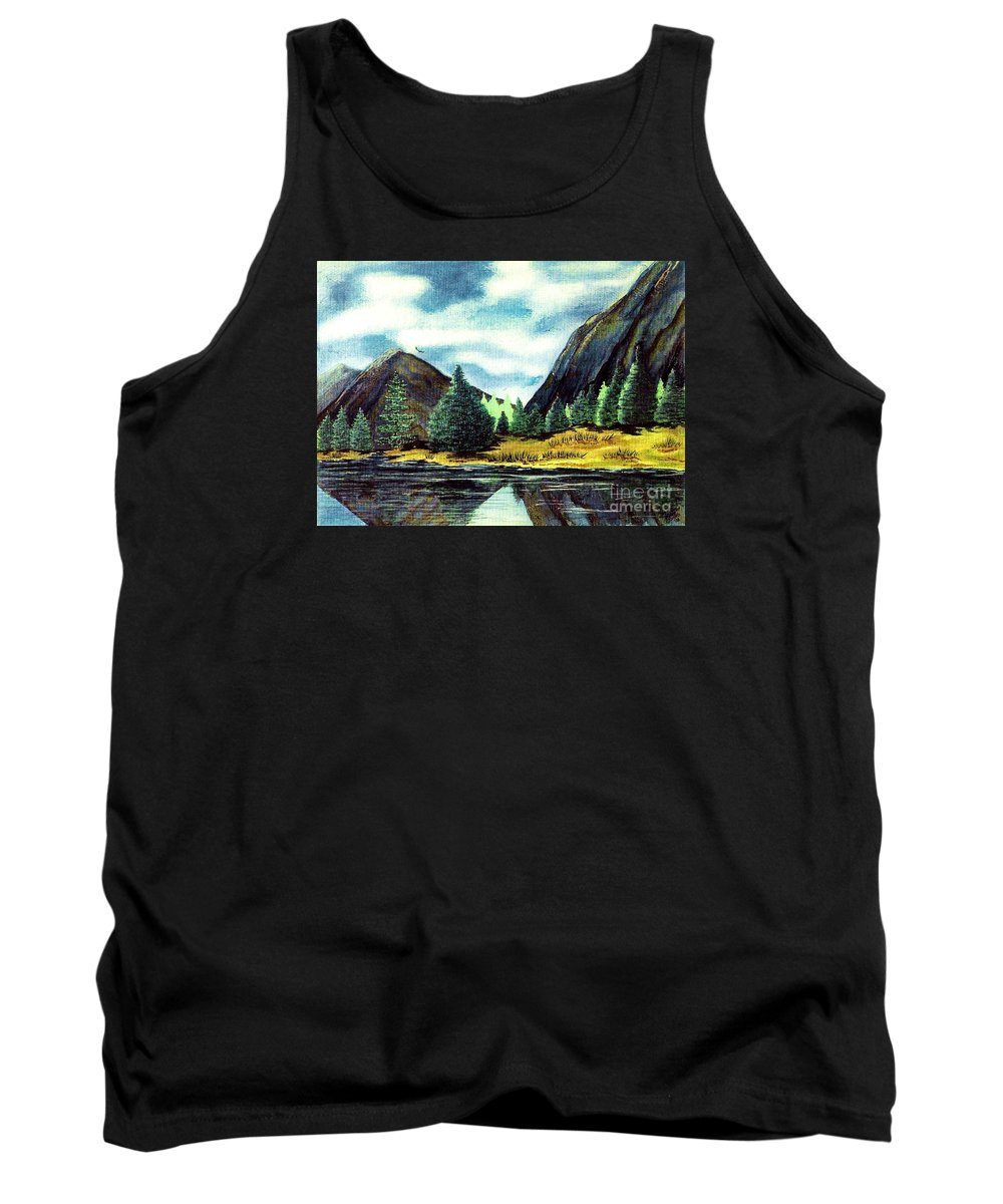 Fine Art Tank Top featuring the painting Solitude by Patricia Griffin Brett