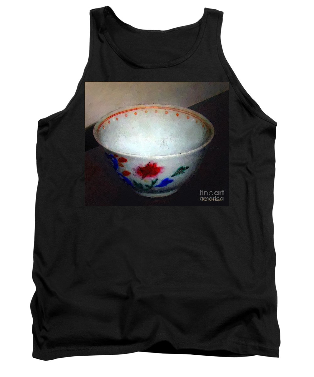 Antique Tank Top featuring the painting Somebody's Old Bowl by RC DeWinter