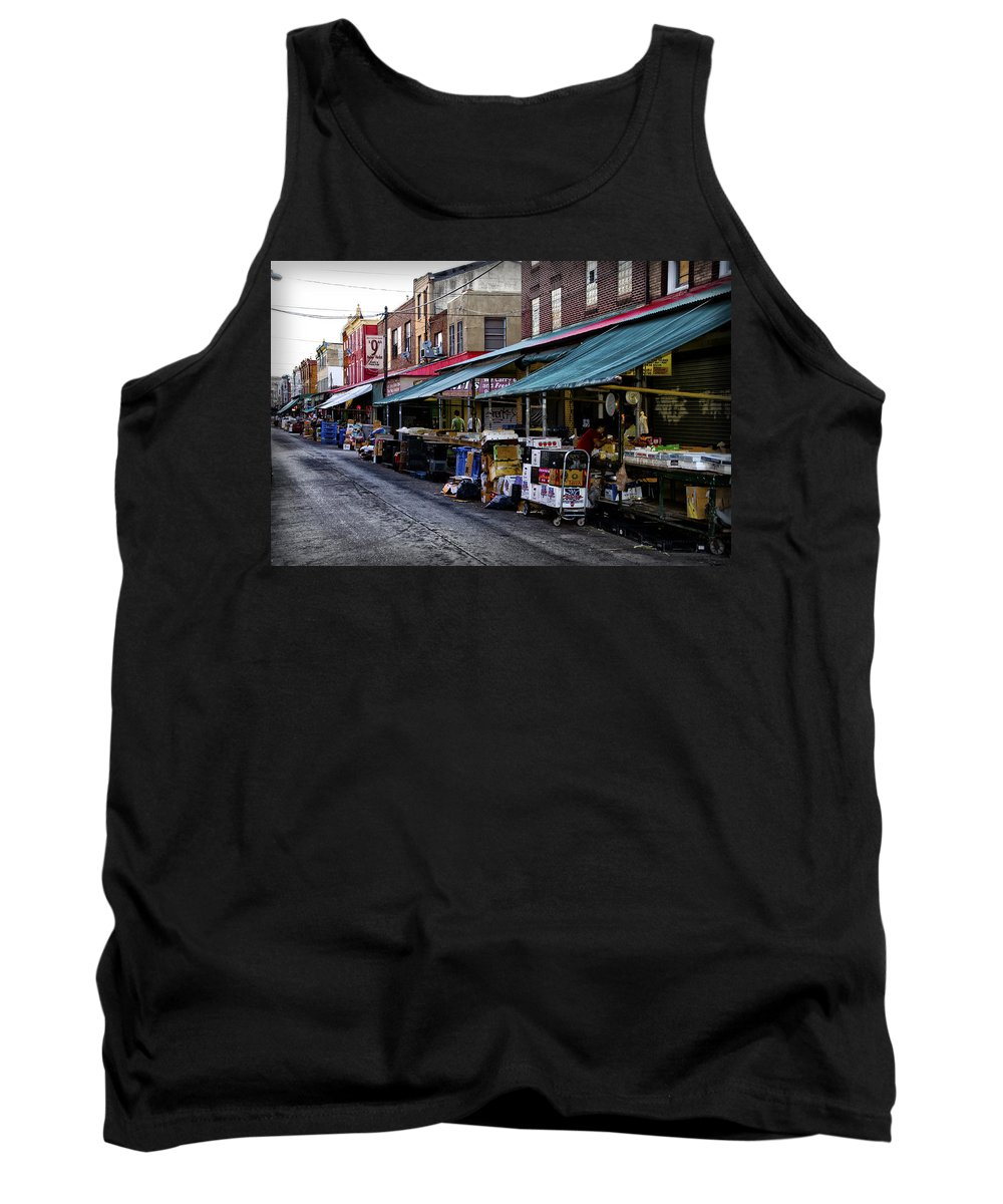 South Tank Top featuring the photograph South Philly Italian Market by Bill Cannon