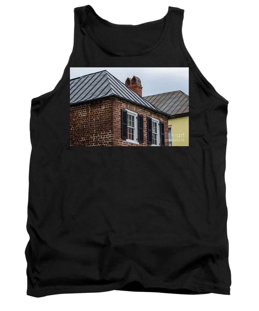 Charleston Tank Top featuring the photograph Southern Rooftops by Dale Powell