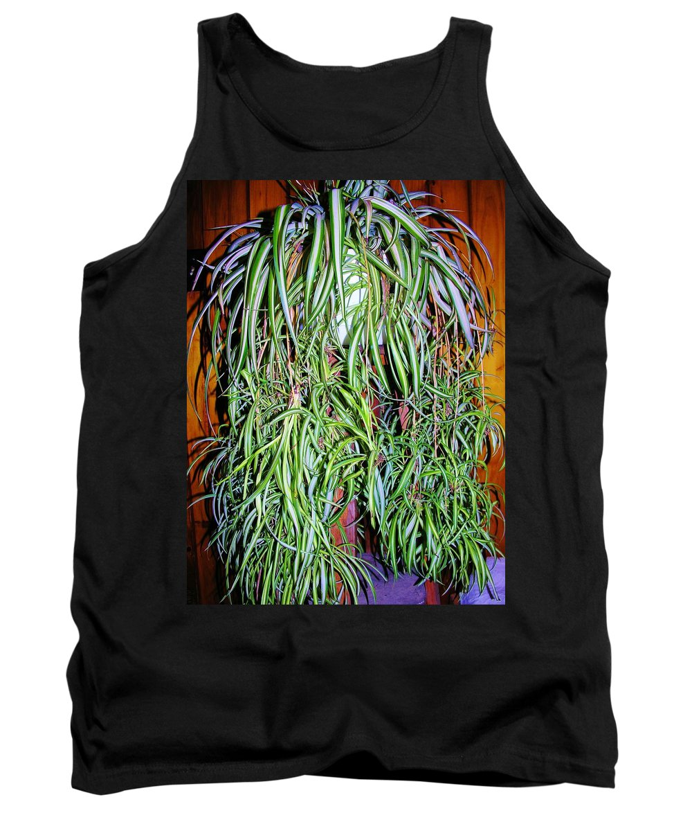 Plant Tank Top featuring the photograph Spider Plant by Sherman Perry
