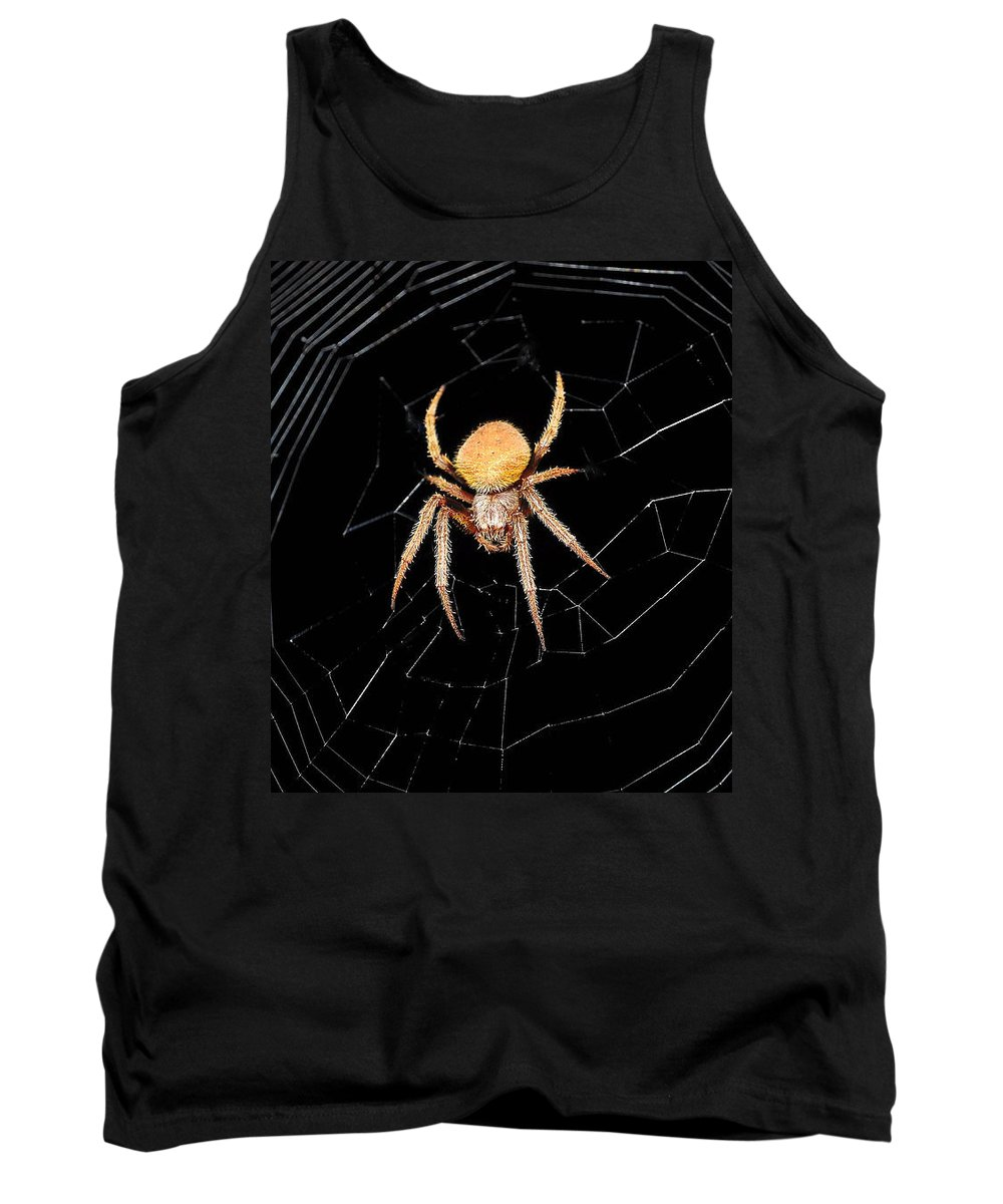 Spider Tank Top featuring the photograph Spider by Savannah Gibbs