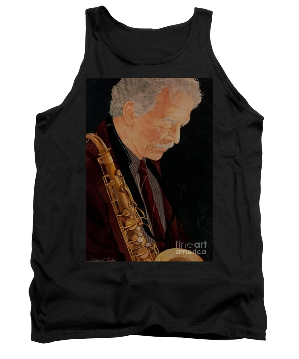 Watercolor Tank Top featuring the painting Spike Robinson by JL Vaden