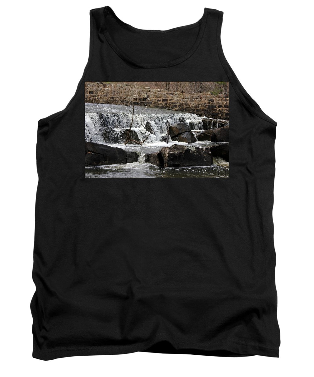 Clayton Lake Tank Top featuring the photograph Spillway Waterfall by Jackie Austin