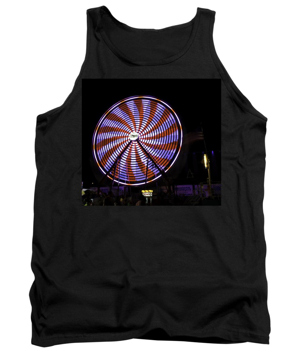 Spin Tank Top featuring the photograph Spinning Ferris Wheel by Jay Droggitis
