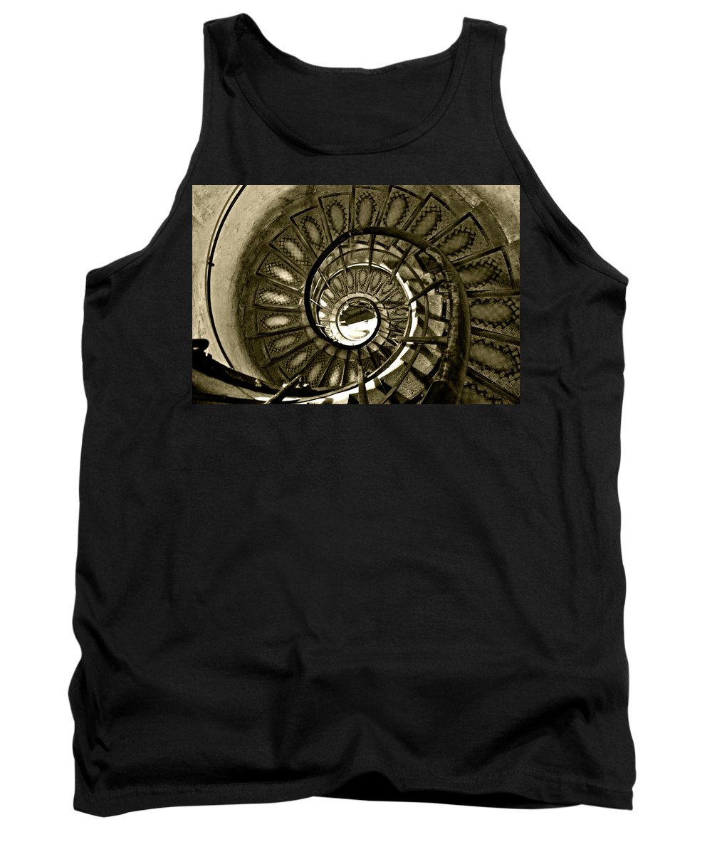 Spiral Tank Top featuring the photograph Spirals Down by Lexi Heft