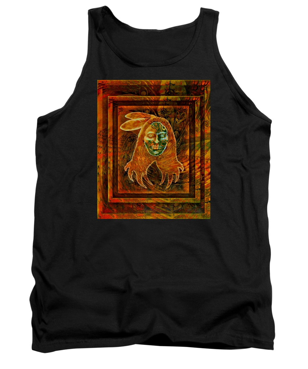 Native American Tank Top featuring the painting Spirit Fire II by Kevin Chasing Wolf Hutchins