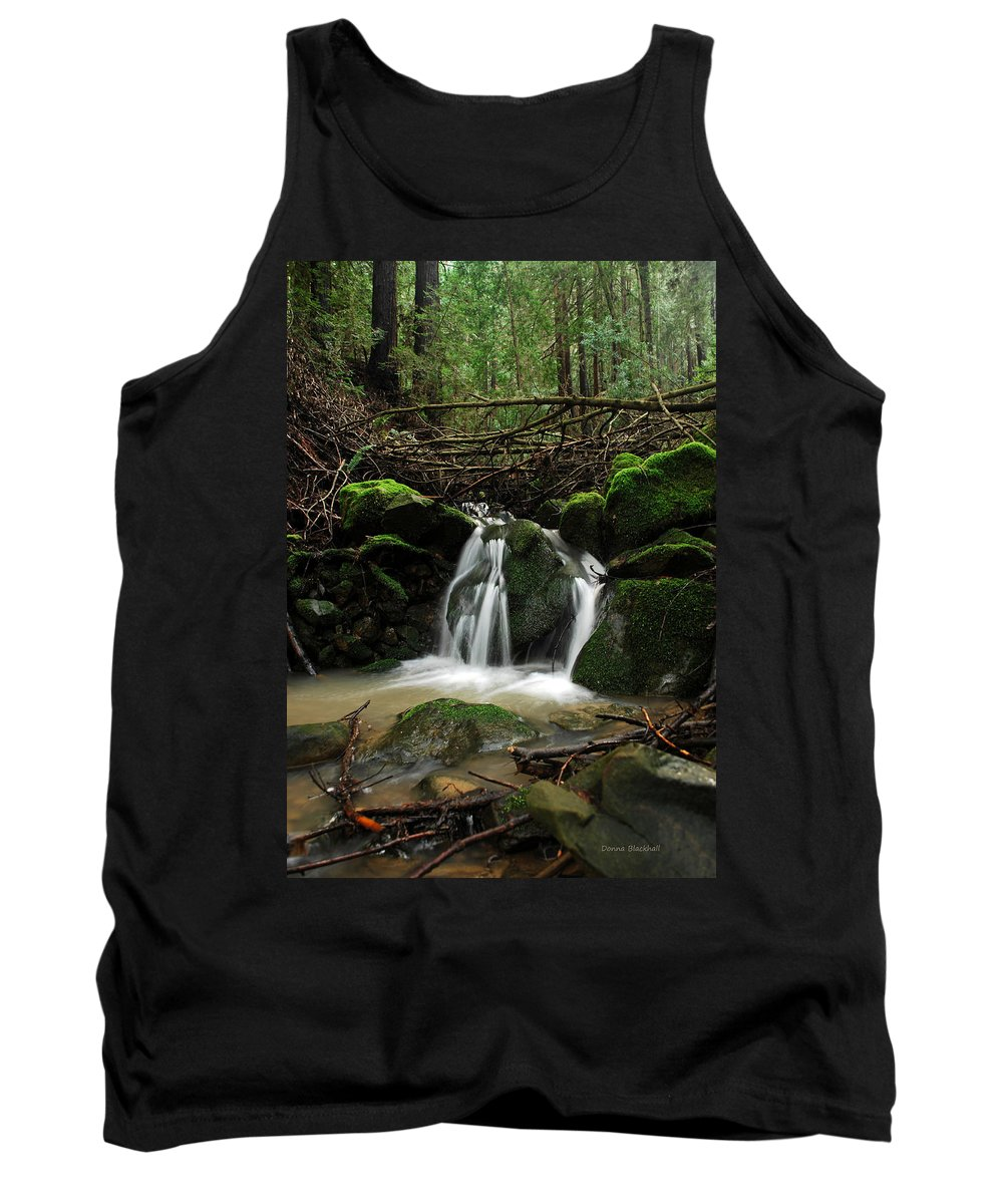 Creek Tank Top featuring the photograph Split Decision by Donna Blackhall
