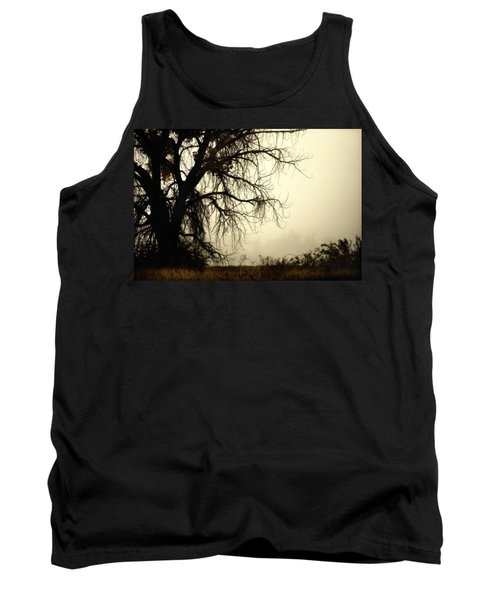 Fog Tank Top featuring the photograph Spooky Tree by Marilyn Hunt