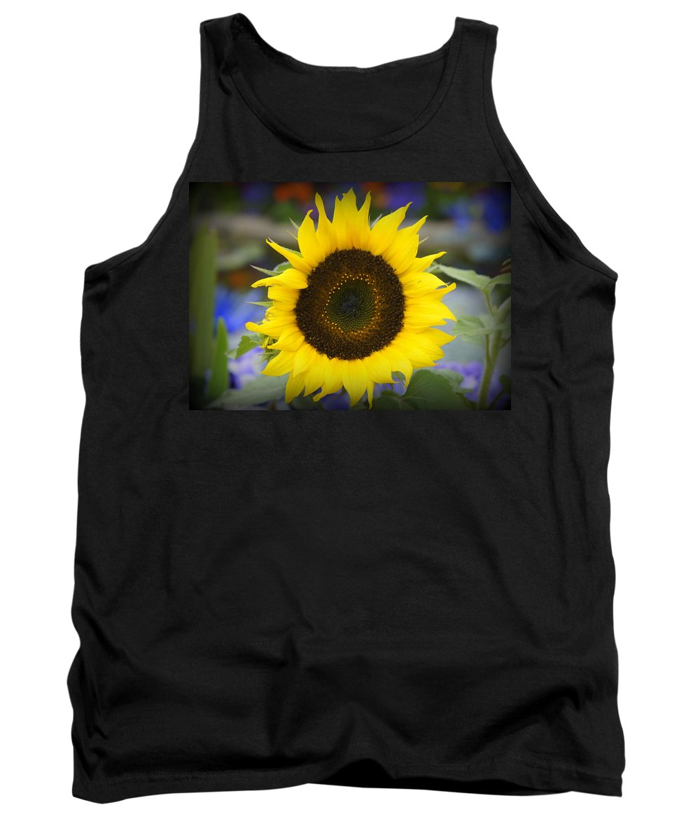 Yellow Sunflower Tank Top featuring the photograph Spring Bloom by Laurie Perry