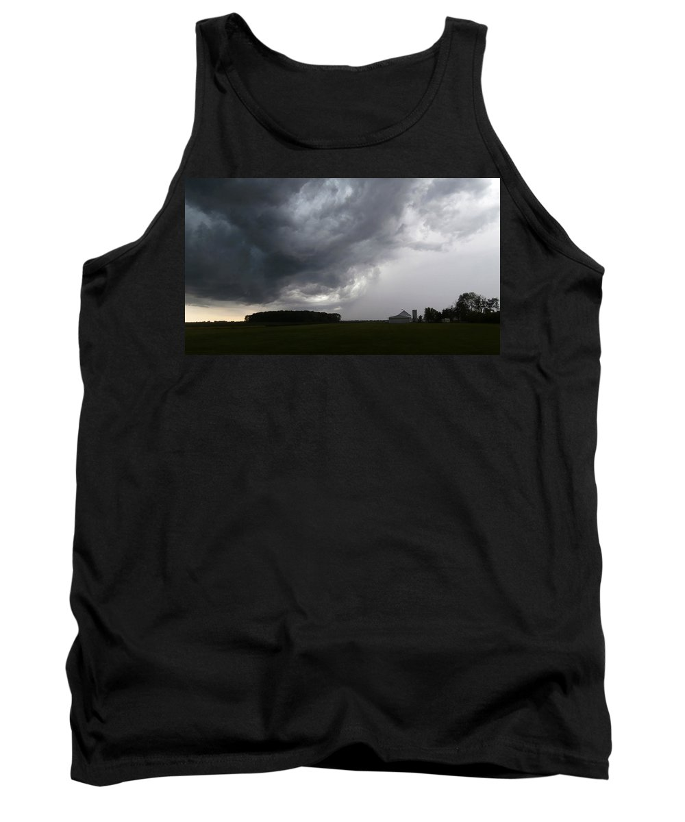 Storm Tank Top featuring the photograph Spring Storm by Dan McCafferty