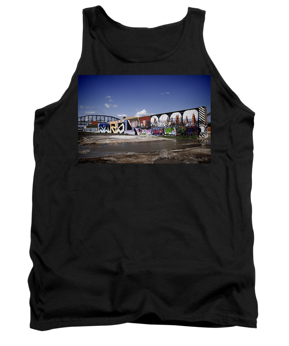 Concrete Tank Top featuring the photograph St Louis Graffiti by Ray Summers Photography