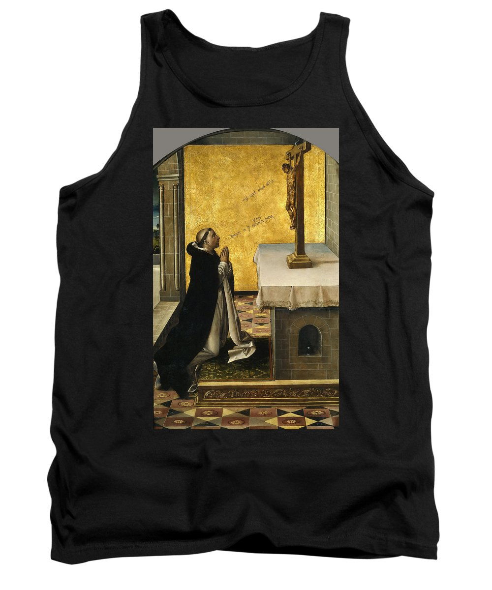 Pedro Berruguete Tank Top featuring the painting St. Peter Martyr In Prayer by Pedro Berruguete