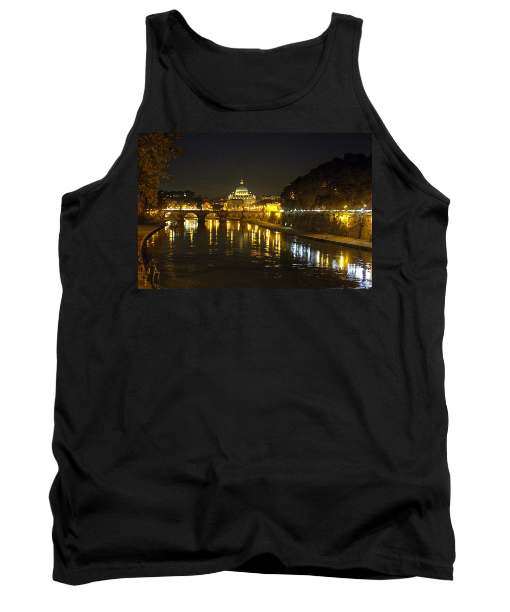St Peters At Night Tank Top featuring the photograph St Peters At Night by Tony Murtagh