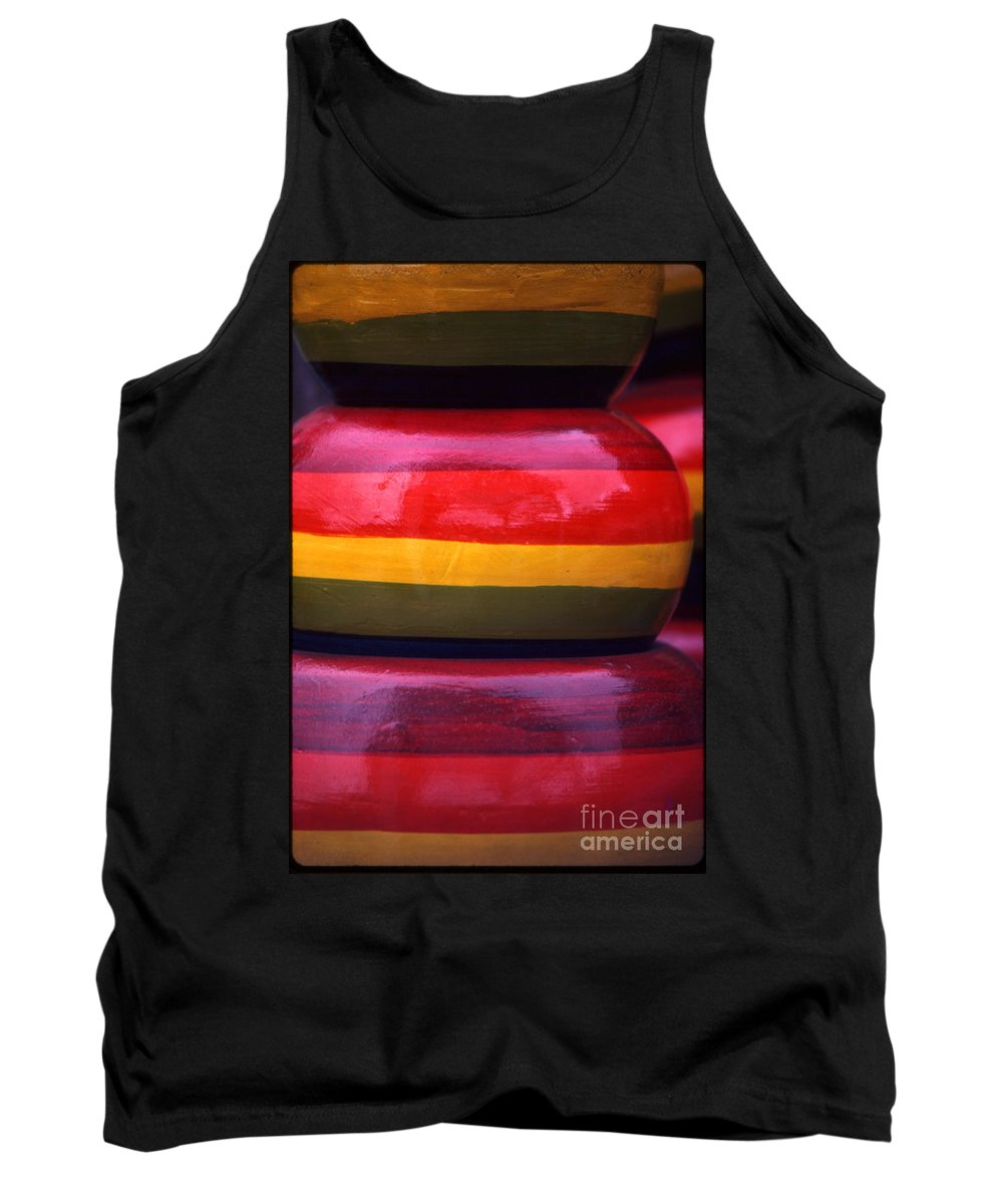 Glaze Tank Top featuring the photograph Stacked Colors by Alan Thwaites